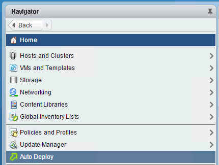 VMware Auto Deploy not showing in vSphere Web Client | The