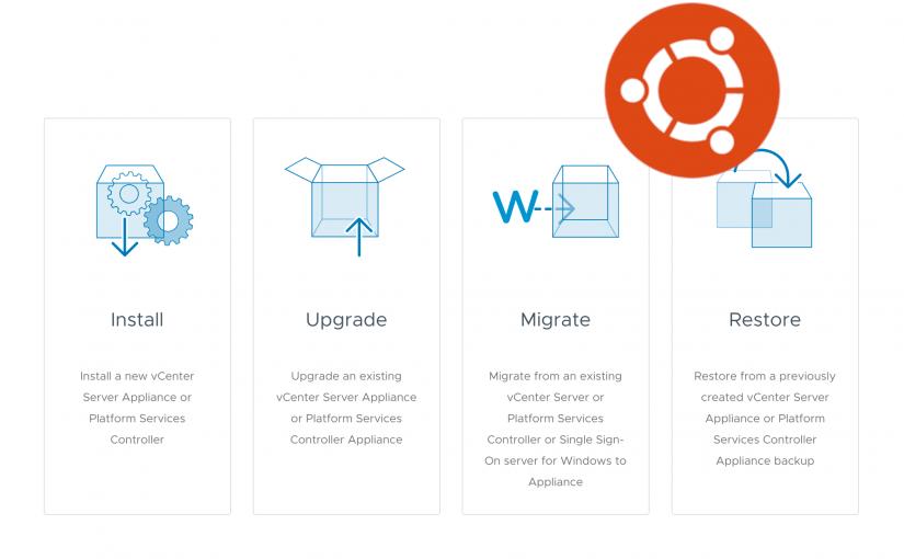 VMware vCenter Appliance Installer on Ubuntu Linux